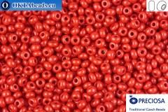 Прециоза чешский бисер 1 сорт красный (93190) 9/0, 50гр