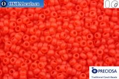 Preciosa czech seed beads 1 quality red matte (90050m) 10/0, 50g