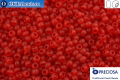 Preciosa czech seed beads 1 quality red matte (90070m) 10/0, 50g