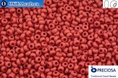 Прециоза чешский бисер 1 сорт красный матовый (93210m) 9/0, 50гр