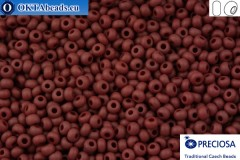 Прециоза чешский бисер 1 сорт красный матовый (93310m) 10/0, 50гр