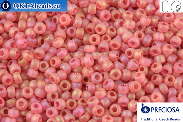 Preciosa czech seed beads 1 quality red AB matte (07122) 9/0, 50g R09PR07122