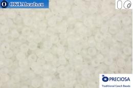 Preciosa czech seed beads 1 quality crystal AB matte (58205m) 8/0, 50g R08PR58205m