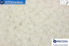 Прециоза чешский бисер 1 сорт кристалл радужный матовый (58205m) 8/0, 50гр R08PR58205m