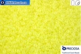 Preciosa czech seed beads 1 quality neon yellow matte (38786) 11/0, 50g R11PR38786
