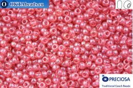 Preciosa czech seed beads 1 quality pink luster solgel (07622) 10/0, 50g