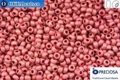 Прециоза чешский бисер 1 сорт розовый матовый (18595m) 10/0, 50гр