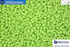 Прециоза чешский бисер 1 сорт салатовый (53410) 10/0, 50гр