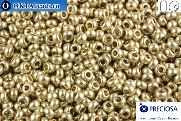 Preciosa český rokajl 1 jakost stříbro metalíza (18113) 10/0, 50g R10PR18113
