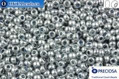 Preciosa český rokajl 1 jakost stříbro metalíza (18131) 10/0, 50g