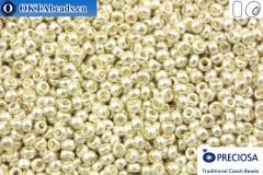 Preciosa český rokajl 1 jakost stříbro metalíza (18503) 9/0, 50g