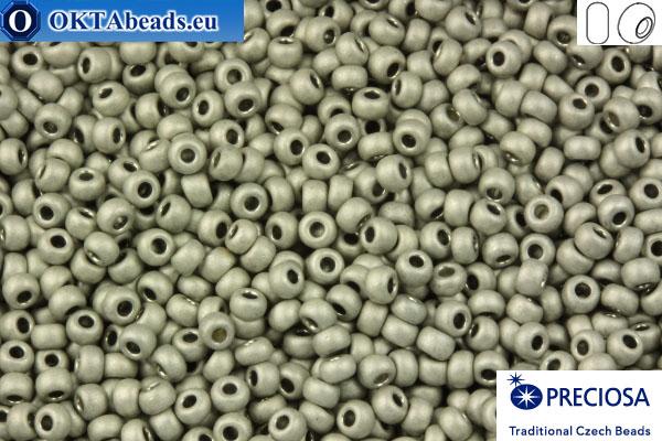 Прециоза чешский бисер 1 сорт серый матовый (18542m) 10/0, 50гр R10PR18542m