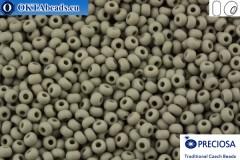 Preciosa czech seed beads 1 quality grey matte (43020m) 10/0, 50g