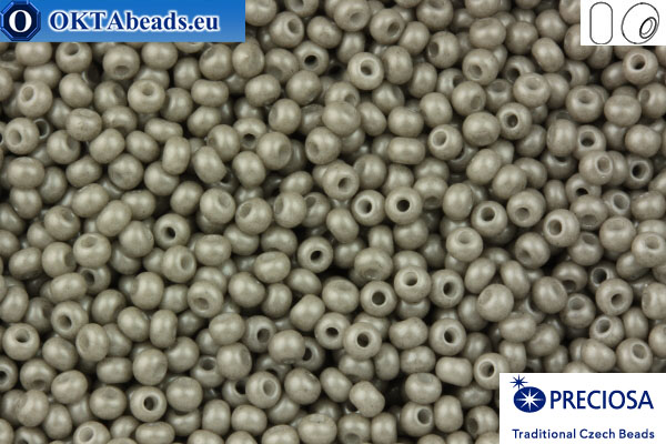Preciosa czech seed beads 1 quality grey solgel (16949) 10/0, 50g R10PR16949