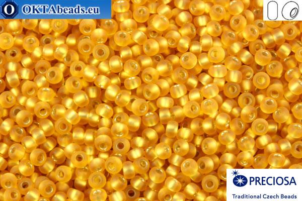 Preciosa czech seed beads 1 quality topaz silver line matte (17050m) 10/0, 50g R10PR17050m