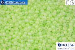 Preciosa czech seed beads 1 quality green opal (57552) 10/0, 50g