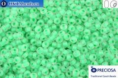 Прециоза чешский бисер 1 сорт зеленый с прокрасом матовый (38356m) 10/0, 50гр