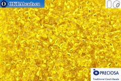 Прециоза чешский бисер 1 сорт желтый с прокрасом серебром (87010) 8/0, 50гр