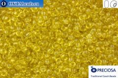 Прециоза чешский бисер 1 сорт желтый соль-гель (01151) 10/0, 50гр R10PR01151