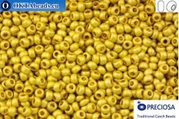 Прециоза чешский бисер 1 сорт золото матовый (18586m) 10/0, 50гр R10PR18586m