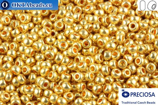 Preciosa český rokajl 1 jakost zlato metalíza (18383) 10/0, 50g R10PR18383