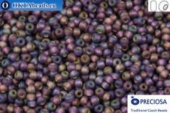 Preciosa czech seed beads 1 quality lilac AB matte silver line (27069m) 10/0, 50g