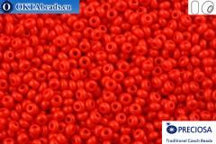 Preciosa czech seed beads 1 quality red (93170) 10/0, 50g