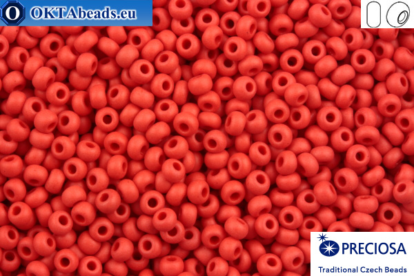 Preciosa czech seed beads 1 quality red matte (93190m) 10/0, 50g