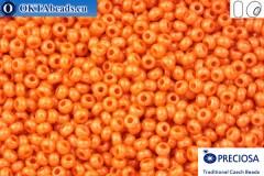 Прециоза чешский бисер 1 сорт оранжевый соль-гель (16189) 10/0, 50гр