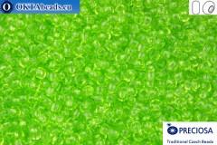 Прециоза чешский бисер 1 сорт салатовый соль-гель (01154) 10/0, 50гр