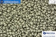 Прециоза чешский бисер 1 сорт серый матовый (18542m) 10/0, 50гр