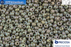 Preciosa czech seed beads 1 quality grey AB (44020) 10/0, 50g