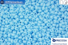Прециоза чешский бисер 1 сорт синий матовый (63000m) 10/0, 50гр