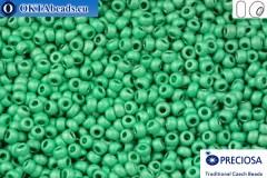 Прециоза чешский бисер 1 сорт зеленый матовый (18558m) 10/0, 50гр