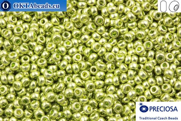 Preciosa český rokajl 1 jakost zelený metalíza (18154) 10/0, 50g
