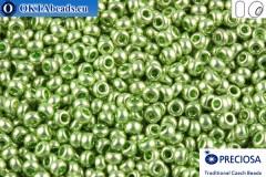 Preciosa český rokajl 1 jakost zelený metalíza (18161) 10/0, 50g