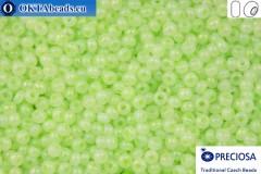 Прециоза чешский бисер 1 сорт зеленый опал (57552) 10/0, 50гр