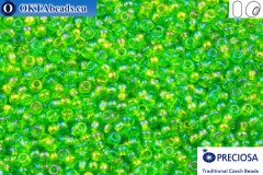 Preciosa czech seed beads 1 quality green AB (51430) 9/0, 50g
