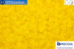 Preciosa czech seed beads 1 quality yellow matte (80010m) 10/0, 50g