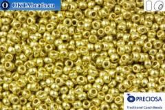Прециоза чешский бисер 1 сорт золото (18151) 10/0, 50гр