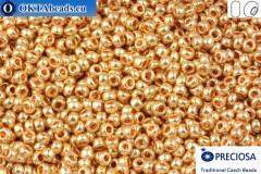 Прециоза чешский бисер 1 сорт золото (18184) 10/0, 50гр