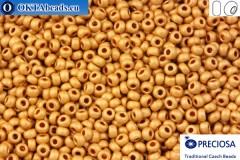 Прециоза чешский бисер 1 сорт золото матовый (18583m) 10/0, 50гр