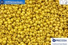 Прециоза чешский бисер 1 сорт золото матовый (18586m) 10/0, 50гр