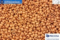 Прециоза чешский бисер 1 сорт золото матовый (18589m) 10/0, 50гр