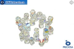 Preciosa Crystal Bicone - Crystal AB 3mm, 24pc