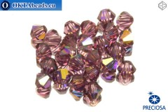 Preciosa Crystal Bicone - Amethyst AB 3mm, 24pc