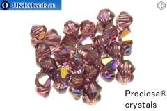 Preciosa Crystal Bicone - Amethyst AB 4mm, 24pc