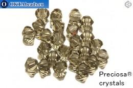 Preciosa Křišťálové Korálky - Black Diamond 4mm, 24ks 4PRcrys26