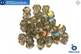 Preciosa Křišťálové Korálky - Black Diamond AB 4mm, 24ks 4PRcrys27