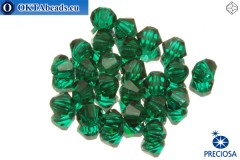 Preciosa Crystal Bicone - Emerald 3mm, 24pc